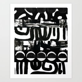 Edges of Black and White Art Print