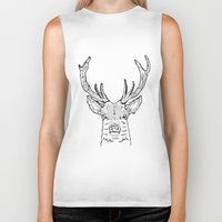 stag Biker Tanks featuring STAG by ALFIE creative design