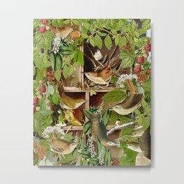 Rachael's Wrens Metal Print