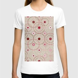 Colorful Abstract Random Circles Texture, Background Pattern T-shirt