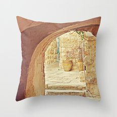 Jerusalem Courtyard Throw Pillow