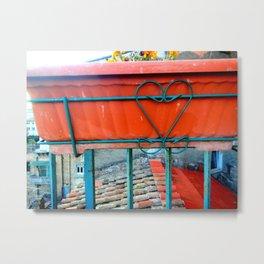 Perugia Hearts Metal Print