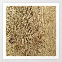Unrefined Wood Grain Art Print