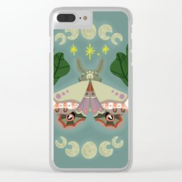 Patterned Moth Clear iPhone Case