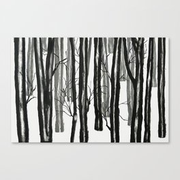 wood and snow Canvas Print
