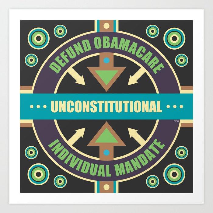 Defund Obamacare Art Print