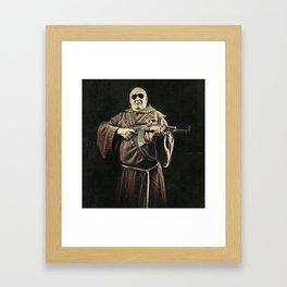 Father Kalashnikov Soldier of God Framed Art Print