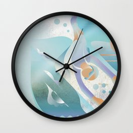Under the water Wall Clock