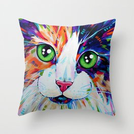 Cats in Colour 3 Throw Pillow