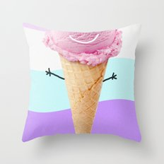 ice cream Throw Pillow