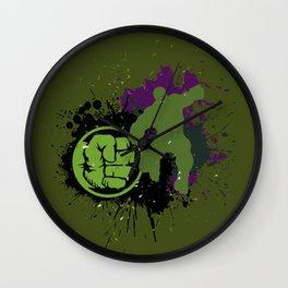 Splashing Hulk Wall Clock