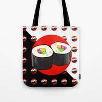 sushi Tote Bags featuring Sushi! by Oceanic Inks