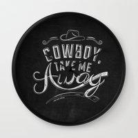 lyrics Wall Clocks featuring LYRICS - Cowboy by Molly Freze