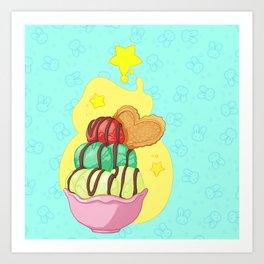 Icecream and buns Art Print