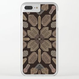 Earthy Quartz Crystals Clear iPhone Case