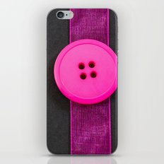 Pink Button and Ribbon iPhone & iPod Skin