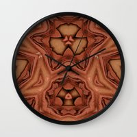 abyss Wall Clocks featuring Abyss by RingWaveArt
