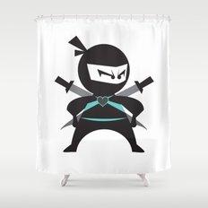 Ninja (with heart) Shower Curtain