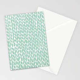 Hand Knit Zoom Mint Stationery Cards