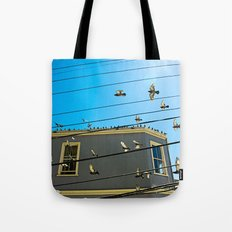 Doves and Wire#3 Tote Bag