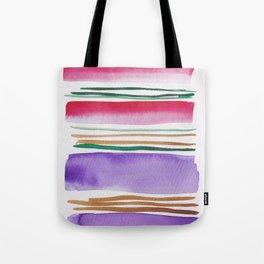 7   |181026 Lines & Color Block | Watercolor Abstract | Modern Watercolor Art Tote Bag