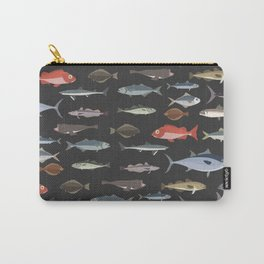 Fish on Dark Background Carry-All Pouch