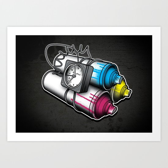 Graffiti Bombing Art Print
