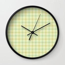 Beautiful plaid 1 Wall Clock