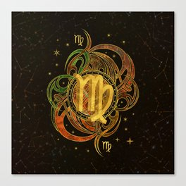Virgo Zodiac Sign Earth element Canvas Print