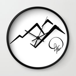 Mountain Signature Wall Clock