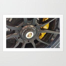ADV Wheels / Porsche 911 Turbo S / Ceramic Brakes Art Print
