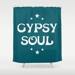 Gypsy Soul Mystical Stars Teal Shower Curtain