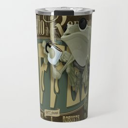 Frog & Coffee by Paulo Coruja Travel Mug
