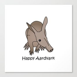 Happy Aardvark Canvas Print