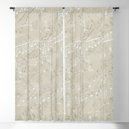 I Love Piano Music Blackout Curtain