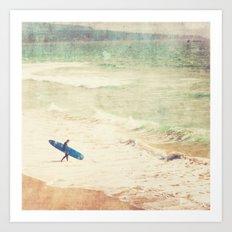 Margin Walker. surfer photograph Hermosa Beach Art Print
