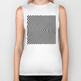 Vortex, optical illusion black and white Biker Tank