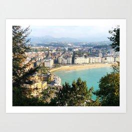 La Concha de San Sebastián Art Print