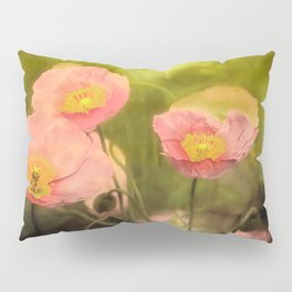 Pale peach poppy Pillow Sham