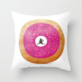 The Fast (Food) Runner! Throw Pillow
