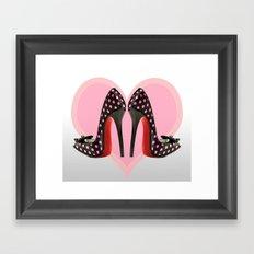 Love Shoes Framed Art Print