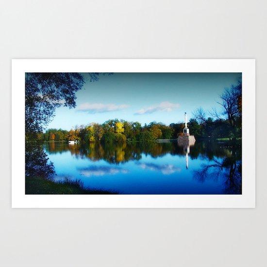 The Golden Pond Art Print
