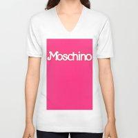 moschino V-neck T-shirts featuring Moschino Barbie by RickyRicardo787