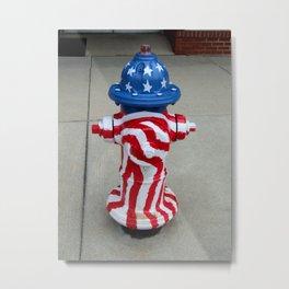Patriotic Firehydrant Metal Print