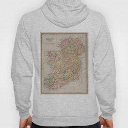 Vintage Map of Ireland (1883) Hoody