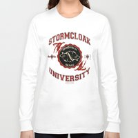 skyrim Long Sleeve T-shirts featuring Stormcloak University(Skyrim) by Chubbybuddhist