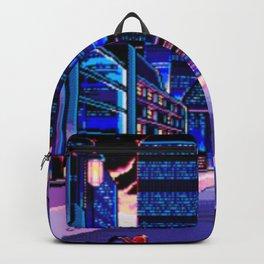 Vaporwave Digital Night Street Backpack