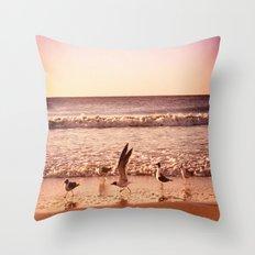 Cross the Ocean Throw Pillow