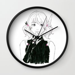 Manga sci-fi anime girl Wall Clock