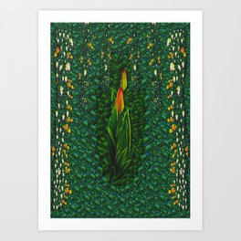Sakura Tulips Giving Fruit Art Print